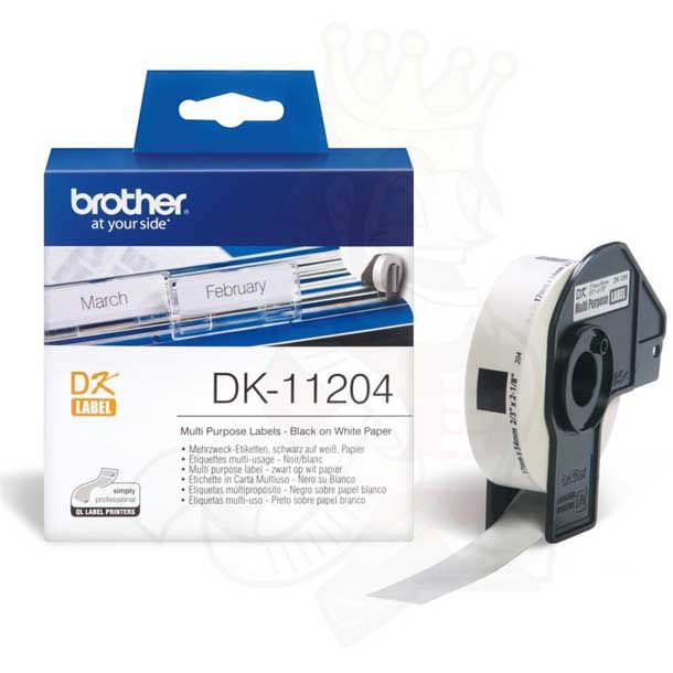 "ROLLO DE ETIQUETAS MULTIPROPÃ""SITO BROTHER DK-11204 17X54MM"