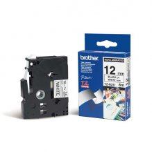 CINTA BROTHER NO LAMINADA TZ-N231 BLANCO/NEGRO 12MMX8M