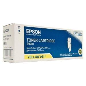 toner epson c1700 c1750 cx17 alta capacidad amarillo 0611 c13s050611 mastoner. Black Bedroom Furniture Sets. Home Design Ideas