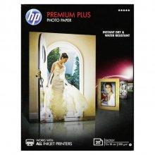 PAPEL FOTOGRAFICO HP INKJET FOTO GLOSSY PREMIUM CR676A 20 HOJAS
