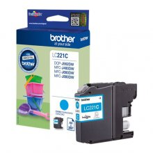 TINTA BROTHER LC221C CIAN