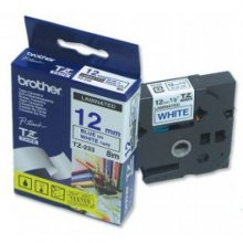 CINTA BROTHER NO LAMINADA TZ-N233 BLANCO/AZUL 12MMX8M