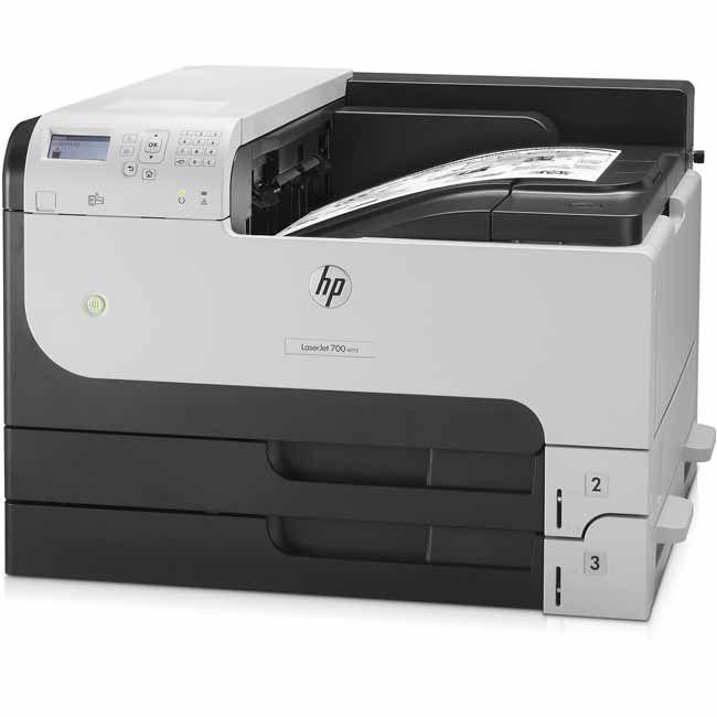 Impresora laser monocromo hp 700 m712dn duplex red a3 for Impresora 3d laser